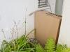 provisorische Hilfe zum Fernhalten der Wespen an der Haustür